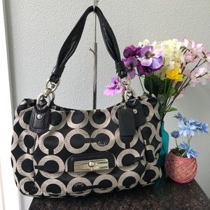 Coach Kristin Large Op Art Signature Bag